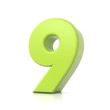 3D green number collection - 9