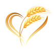 Abstract Wheat Ears Icon With ...