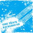Blue tire track backgound
