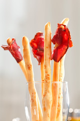 bread-stick with parma ham