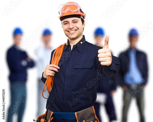 Happy worker portrait