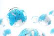 concepto de internet y mapa del mundo