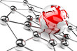 concepto de internet y negocios en red