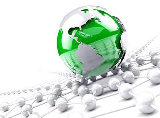 concepto de trabajo en red y negocios en red