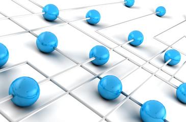 imagen 3d concepto de trabajo en red