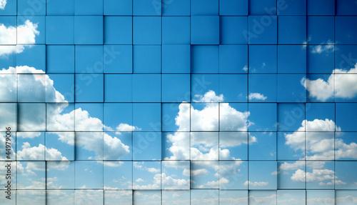 fondo abstracto con cielo azul © carloscastilla