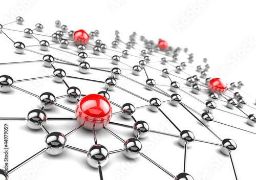 concepto de trabajo en red e internet