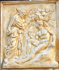 Bologna Saint Petronius Basilica decoration: The man creation