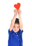 Little Boy Holding Love Heart