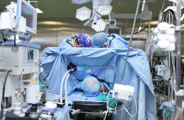 two surgeon at work in operating room. photo from the workplace