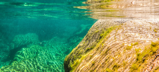 Underwater River Landscape