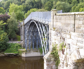 Iron Bridge over River Severn, Ironbridge Gorge, Shropshire.