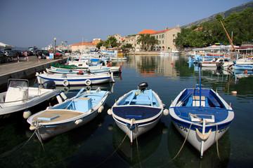 barche nel porto di Bol, isola di Brac (Croazia)