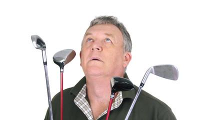 Praying Golfer