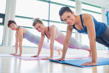 Women doing pushups