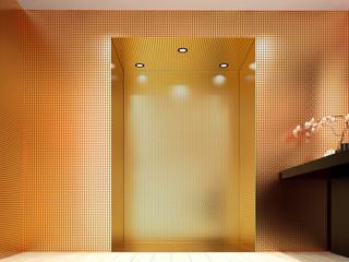 Espositore cornice oro lusso nicchia parete