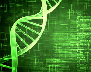 Green DNA Helix background squares