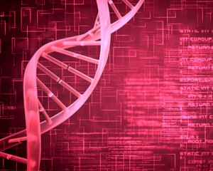 Pink DNA Helix background squares