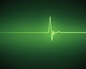 Green ECG heartbeat
