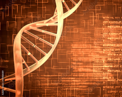 Orange DNA Helix background squares