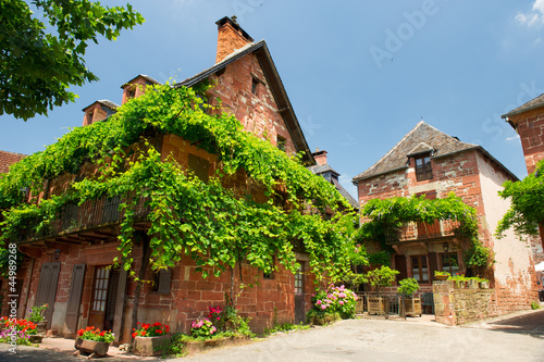 French red village Collonges la rouge