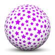 Kugel, Sterne, Sternchen, Lila, Violett, Textur, Weihnachten, 3D