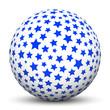 Kugel, Sternhaufen, Sterne, weihnachtlich, Blau, Dunkelblau, 3D