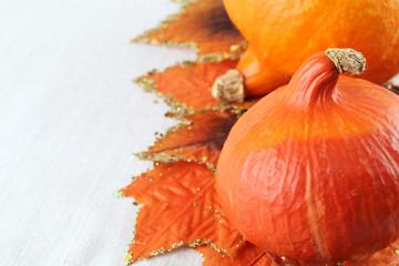 Autumn arrangement with Hokkaido pumpkins