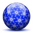 Kugel, Schneeflocken, Symbol, Zeichen, Sphere, Winter, Blau