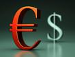 Eurozeichen rot