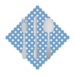 cutlery on a napkin