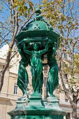 Wallace fountain detail, Paris