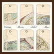 Vector vintage map nautical labels