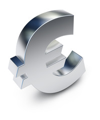 Euro symbol isolated on white