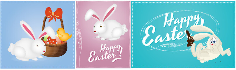 Happy Easter Vector Backgrounds