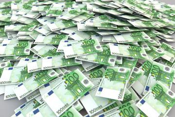 100 Euros money bunch
