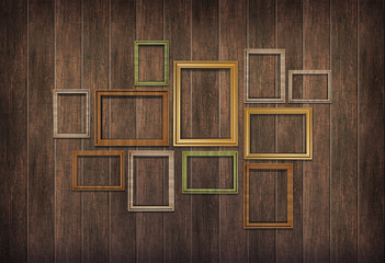 picture frames wood wall