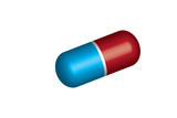 Pill vector - red and blue