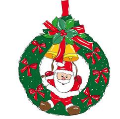 weihnachtlicher türkranz - illustration