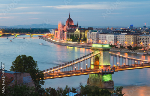 Chain Bridge & Hungarian Parliament