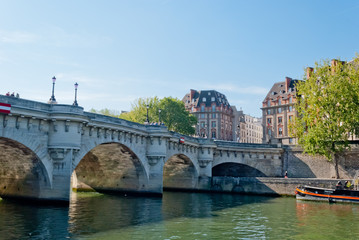 Paris, Pont Neuf on Seine river