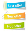 Offer Sale and Info Banners Vectors