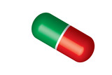 Pill vector - green white red
