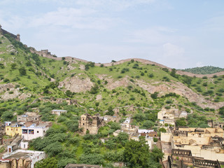 Panoramic view taken from the Amber Fort, Jaipur, India.