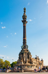 Columbus Monument, Barcelona. Spain.