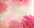 Flowers Abstract Design Art Background. Floral Wallpaper