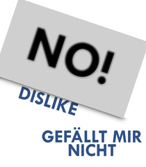 No! Dislike Gefällt mir nicht