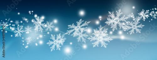 Schneeflocken, abstrakt, Banner, Webdesign, Head, Hintergrund