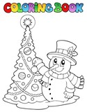 Coloring book Christmas thematics 1
