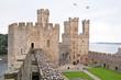 Caernarfon castle battlements